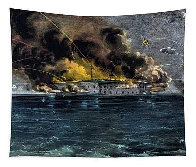 Attack On Fort Sumter Tapestry