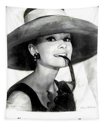 Audrey Hepburn 2 Tapestry