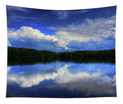 August Summertime On Buck Lake Tapestry