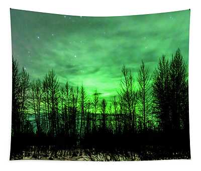 Aurora In The Clouds Tapestry