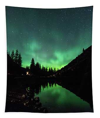 Aurora On Moraine Lake Tapestry