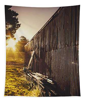 Australian Rural Farm Shed In Waratah Tasmania Tapestry