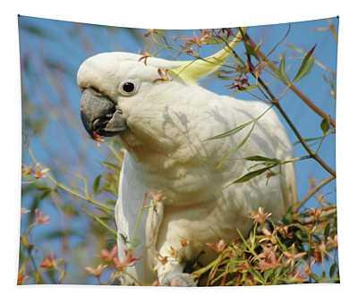 Australian Sulphur Crested Cockatoo Tapestry