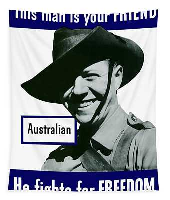 Australian This Man Is Your Friend  Tapestry