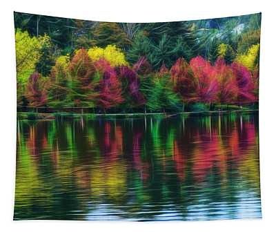 Autumn At Green Lake Seattle Tapestry