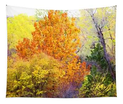 Tapestry featuring the digital art Autumn Blaze  by Shelli Fitzpatrick