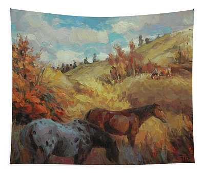 Autumn Browsing Tapestry