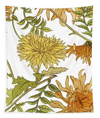 Autumn Chrysanthemums II Tapestry