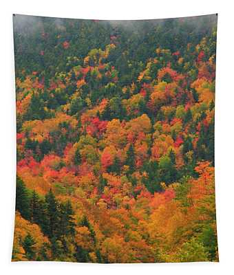 Autumn Clouds On Crawford Notch Road Tapestry