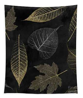 Autumn Gold Leaf Pattern Tapestry