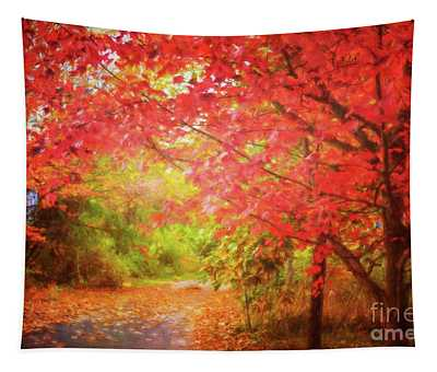 Glorious Foliage On The Rail Trail Tapestry