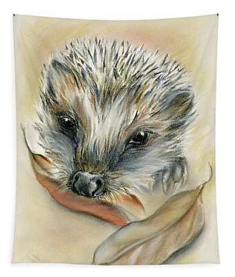 Autumn Hedgehog Tapestry
