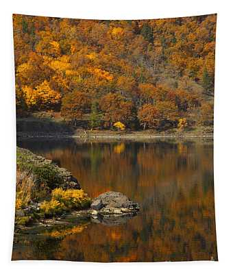 Autumn Illusion Tapestry