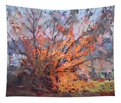 Autumn In Late Evening Tapestry