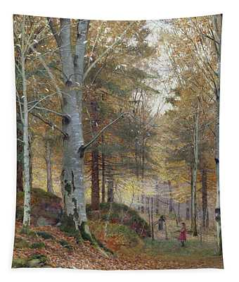 Autumn In The Woods Tapestry