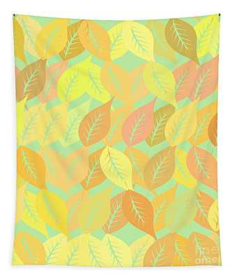 Autumn Leaves Pattern Tapestry