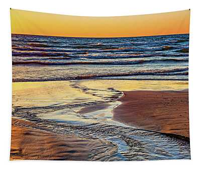 Autumn Merging - Sauble Beach 6 Tapestry