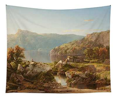 Autumn Morning On The Potomac Tapestry