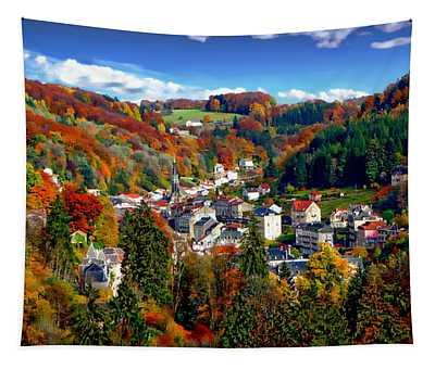 Autumn Panorama Tapestry