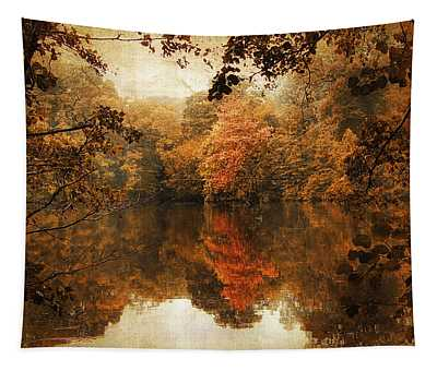 Tapestry featuring the photograph Autumn Reflected by Jessica Jenney