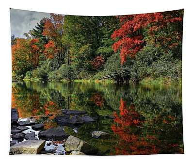 Autumn River Landscape Tapestry