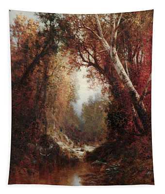 Autumn Scene In The Adirondacks Tapestry