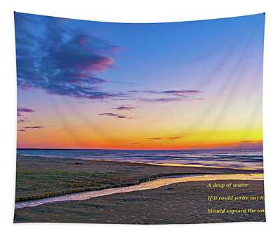 Autumn Serenity - Philosophical Musings 2 Tapestry