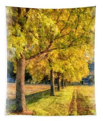 Autumn Splendor Watercolor Tapestry