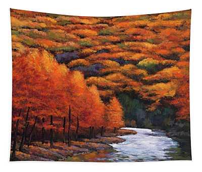 Autumn Stream Tapestry