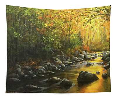 Autumn Stream Tapestry