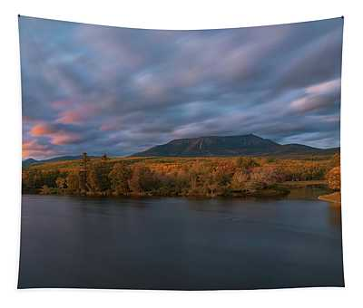 Autumn Sunset At Mount Katahdin Tapestry