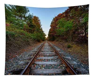 Autumn Train Tapestry