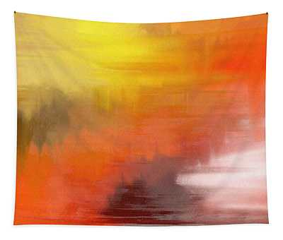 Tapestry featuring the digital art Autumnal Abstract  by Shelli Fitzpatrick