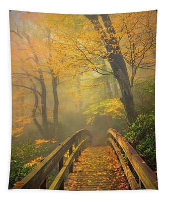 Autumn's Bridge To Heaven Tapestry