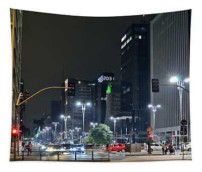 Avenida Paulista - Sao Paulo - Brazil Tapestry