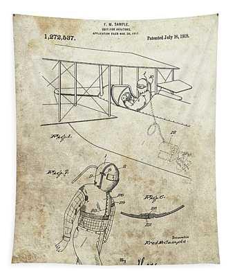 Aviator Suit Patent Tapestry