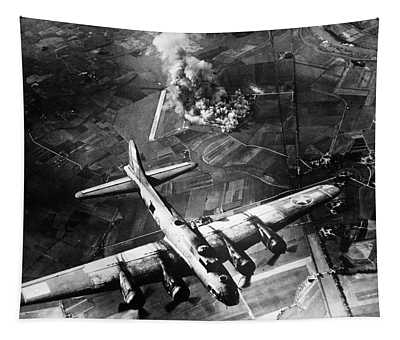 B-17 Bomber Over Germany  Tapestry