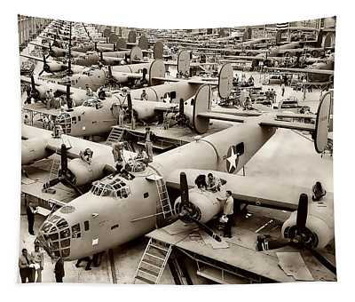 B-24 Bomber Production 1943 Tapestry