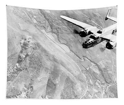 B-25 Bomber Over Germany Tapestry