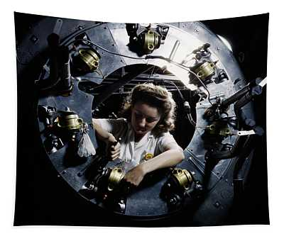 B-25 Bomber Production 1942 Tapestry