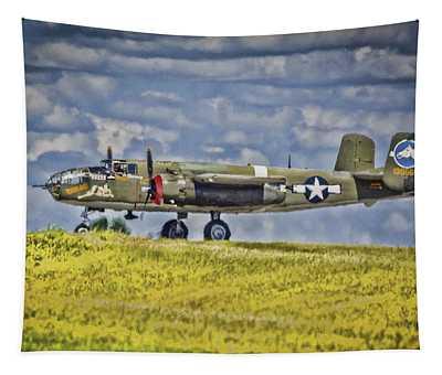 B-25 Landing Akron/canton Ohio Tapestry