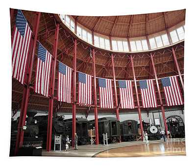B And O Museum Roundhouse In Baltimore Maryland Tapestry