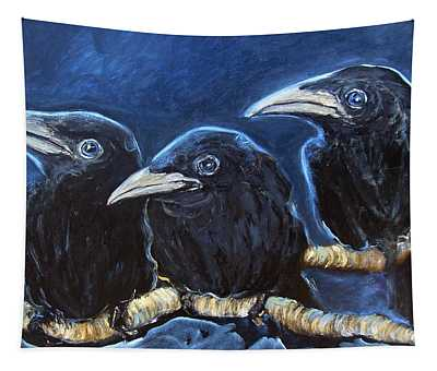 Baby Crows Tapestry