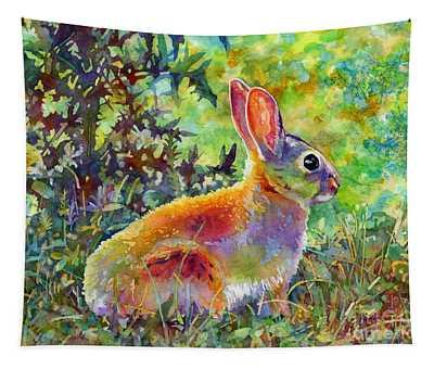 Backyard Bunny Tapestry