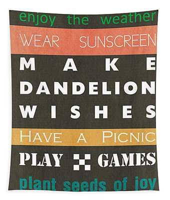 Backyard Rules Tapestry