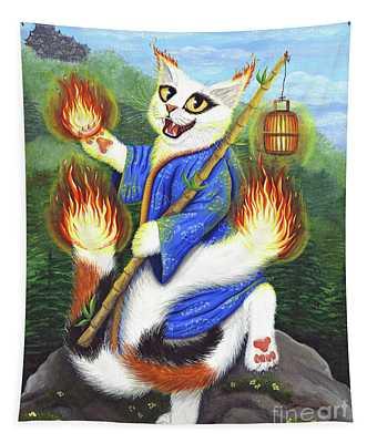 Bakeneko Nekomata - Japanese Monster Cat Tapestry