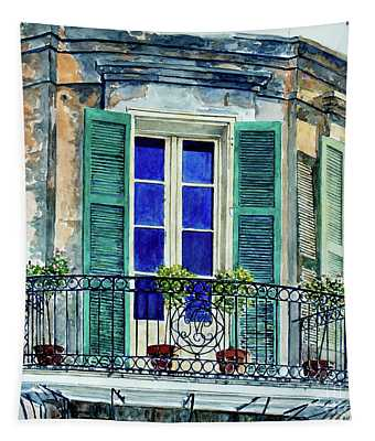 Balcony, New Orleans Tapestry