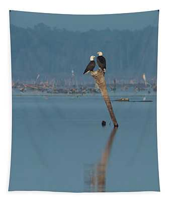 Bald Eagle Pair Tapestry