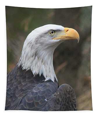 Bald Eagle Profile Tapestry