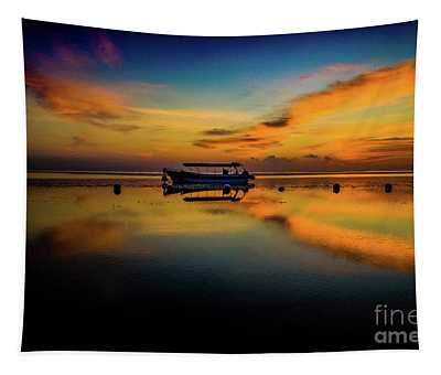 Magical Bali Sunrise Tapestry